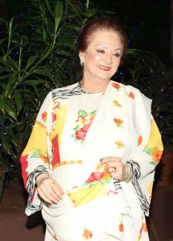 Saira Banu Smiling Pic At Her Hubby Dilip's Birthday Party