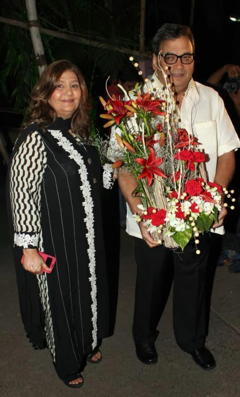 Subhash With Wife Mukta Ghai Attend Dilip Kumar's Birthday Bash