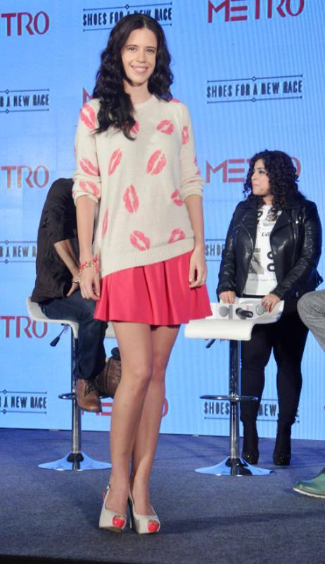 Kalki Koechlin Cute Still During Launch Of Metro Shoes Campaign For New Race