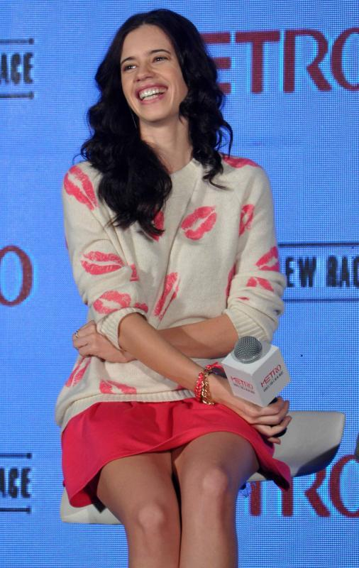 Kalki Smiling Pic At The Launch Of Metro Shoes Campaign For New Race