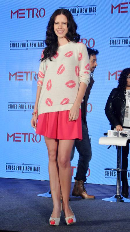Kalki Strikes A Pose During The Launch Of Metro Shoes Campaign