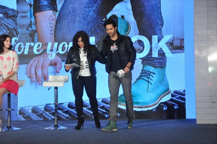 RJ Mallishka And Varun Duting The Launch Of Metro Shoes Campaign For New Race