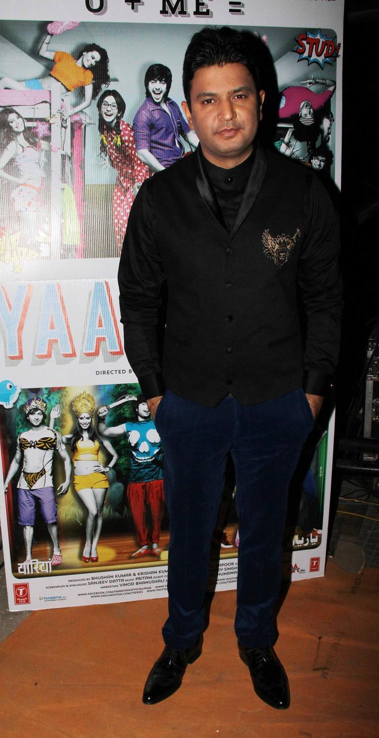 Bhushan Kumar Posed For Camera During The Yaariyan Music Launch Event