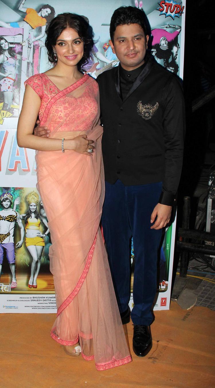 Divya Khosla With Hubby Bhushan Posed At Yaariyan Music Launch Event