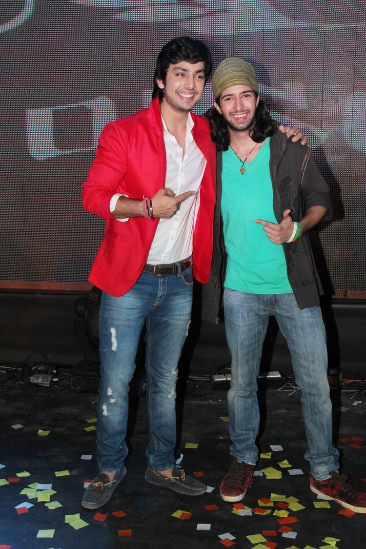 Himansh Kohli And Shreyas Pardiwalla Cool Pose At Yaariyan Music Launch Event