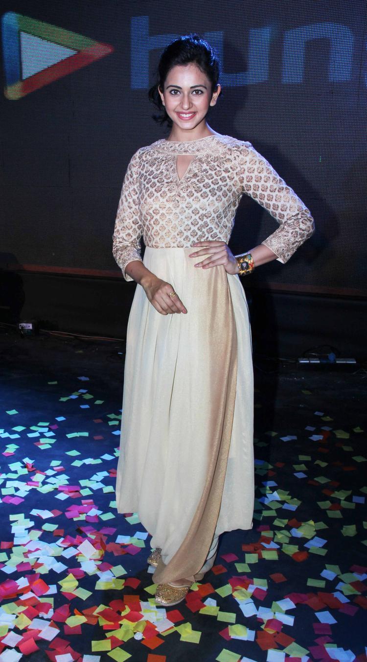 Rakul Preet Singh Cool Dazzling Look During The Yaariyan Music Launch Event