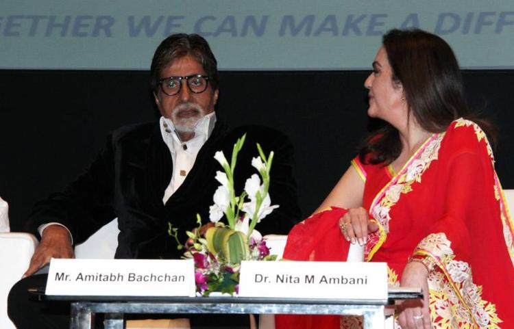 Amitabh And Nita In Conversation At Public Awareness Programme On Road Traffic Accident Event