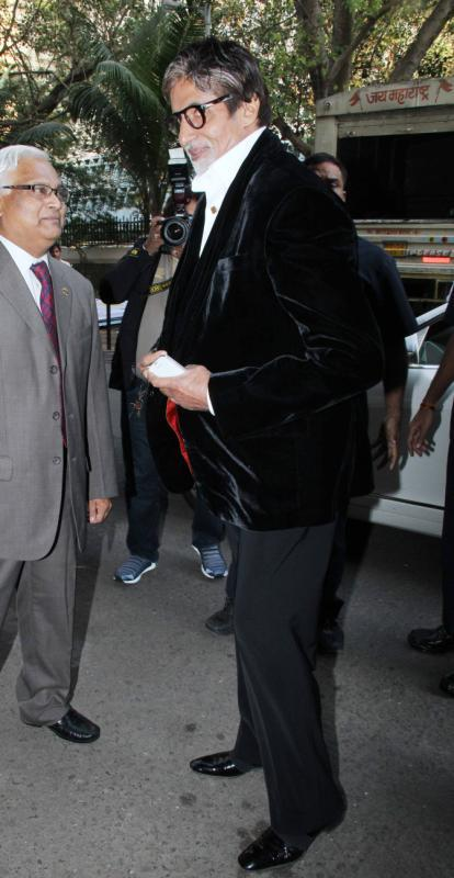 Amitabh Arrives For The Event Public Awareness Programme On Road Traffic Accident