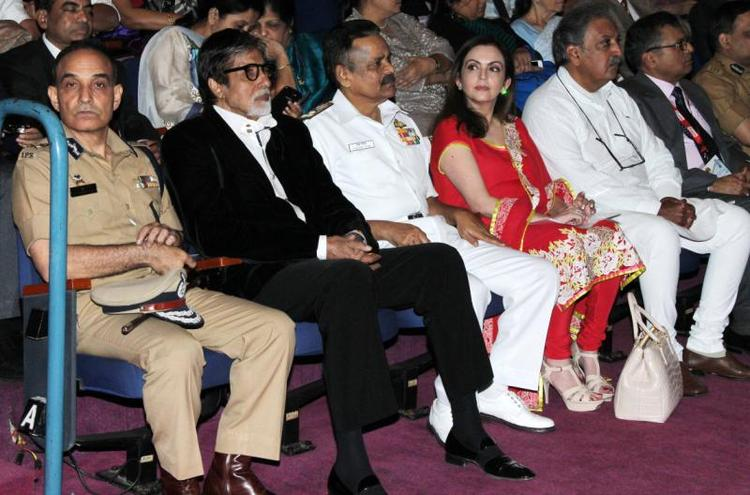 Amitabh,Nita And Others At Public Awareness Programme On Road Traffic Accident Event