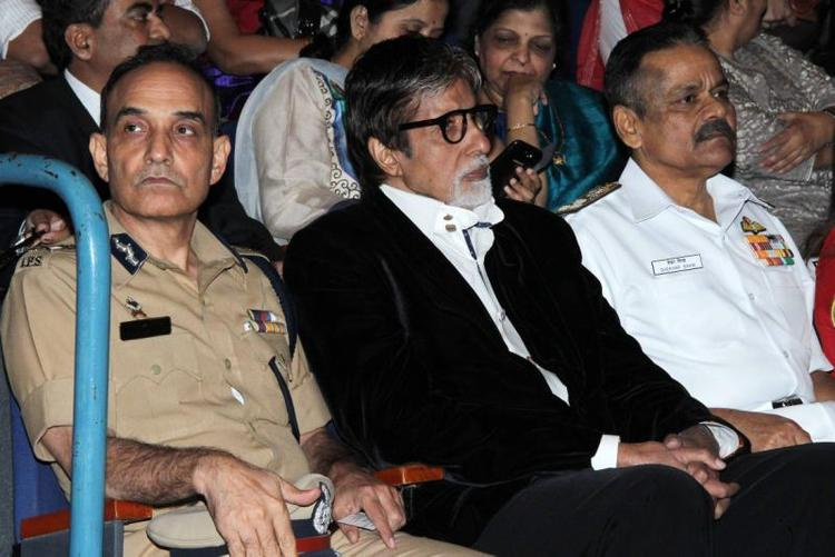 Bollywood Super Star Amitabh During Public Awareness Programme On Road Traffic Accident Event