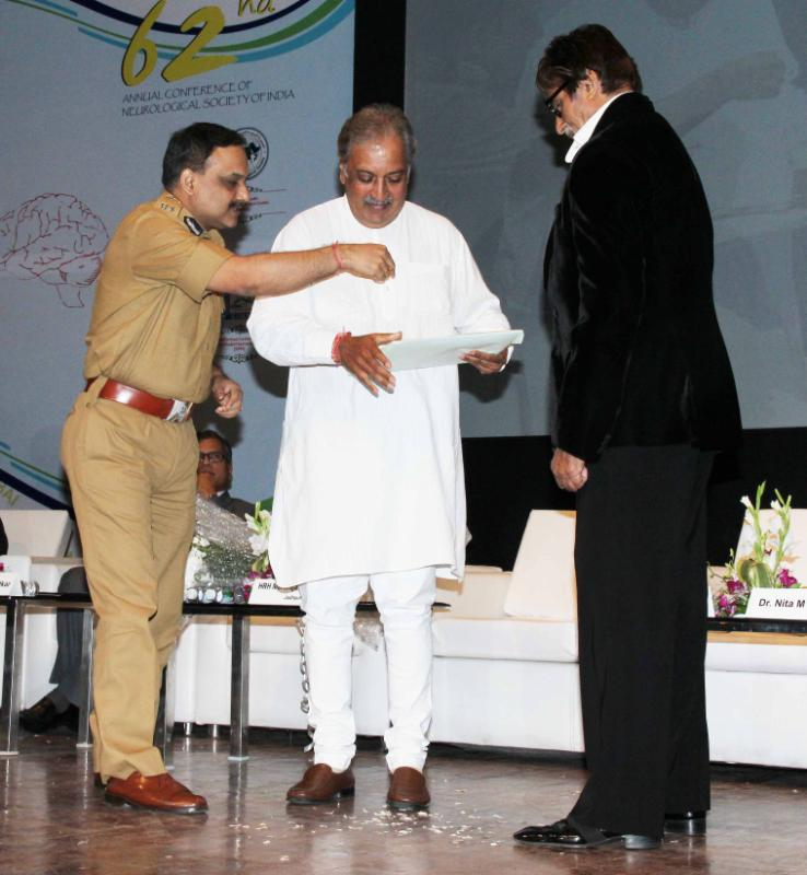 Gaj And Amitabh During The Public Awareness Programme On Road Traffic Accident Event In Mumbai