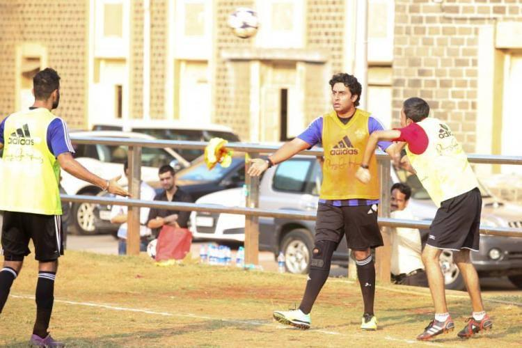 Bollywood Heartthrob Abhishek Bachchan Enjoyed Football Game During The All Stars Football Club Practice Session,