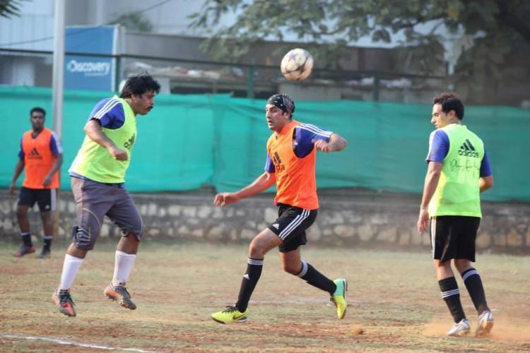 Bollywood Hunk Ranbir Kapoor Played Football At All Stars Football Club