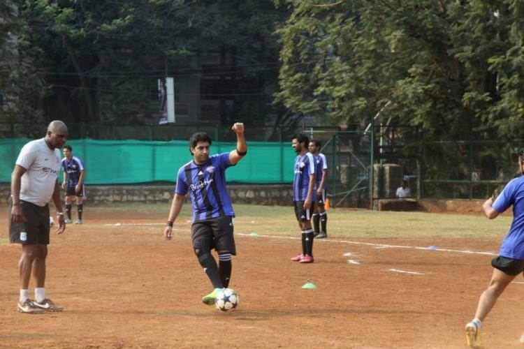 Bollywood Style Icon Abhishek Plays Football At All Stars Football Club