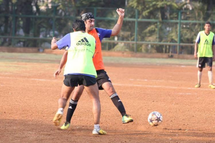 Ranbir Kapoor Play Football At The ASFC