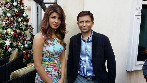 Priyanka Nice Pose During DIFF To Launch Gunday Trailer