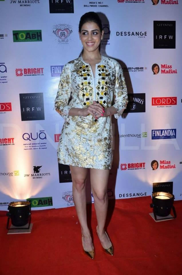 Genelia D'Souza Hot Pic On Red Carpet At IRFW 2013