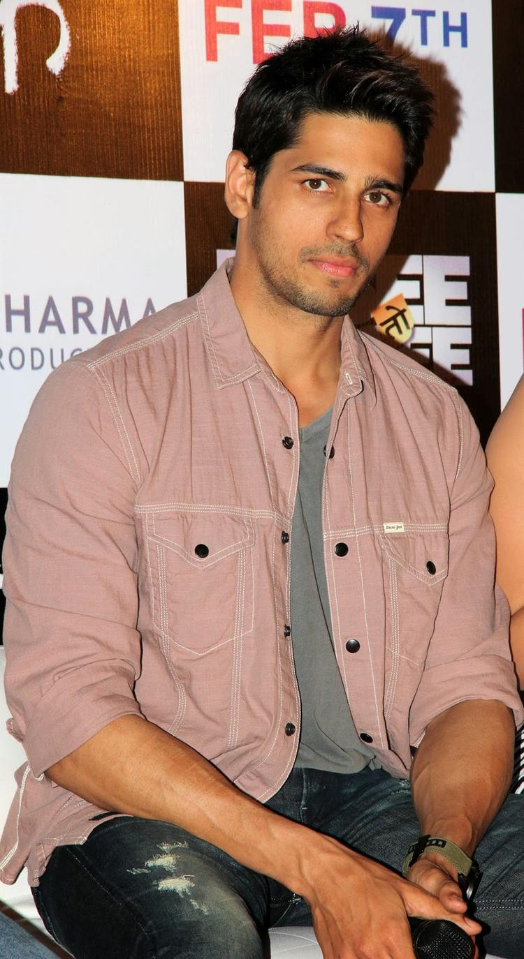Bollywood Hunk Sidharth During The First Look Launch Of Hasee Toh Phasee Movie