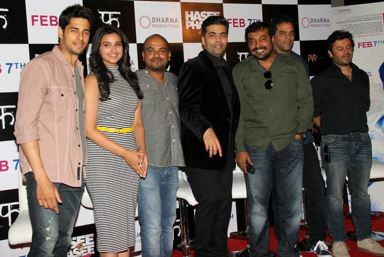 Cast And Crew Attend The First Look Launch Of Hasee Toh Phasee