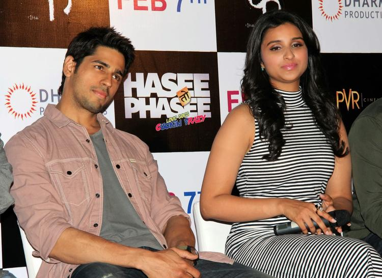 Siddharth And Parineeti At The First Look Launch Of Hasee Toh Phasee
