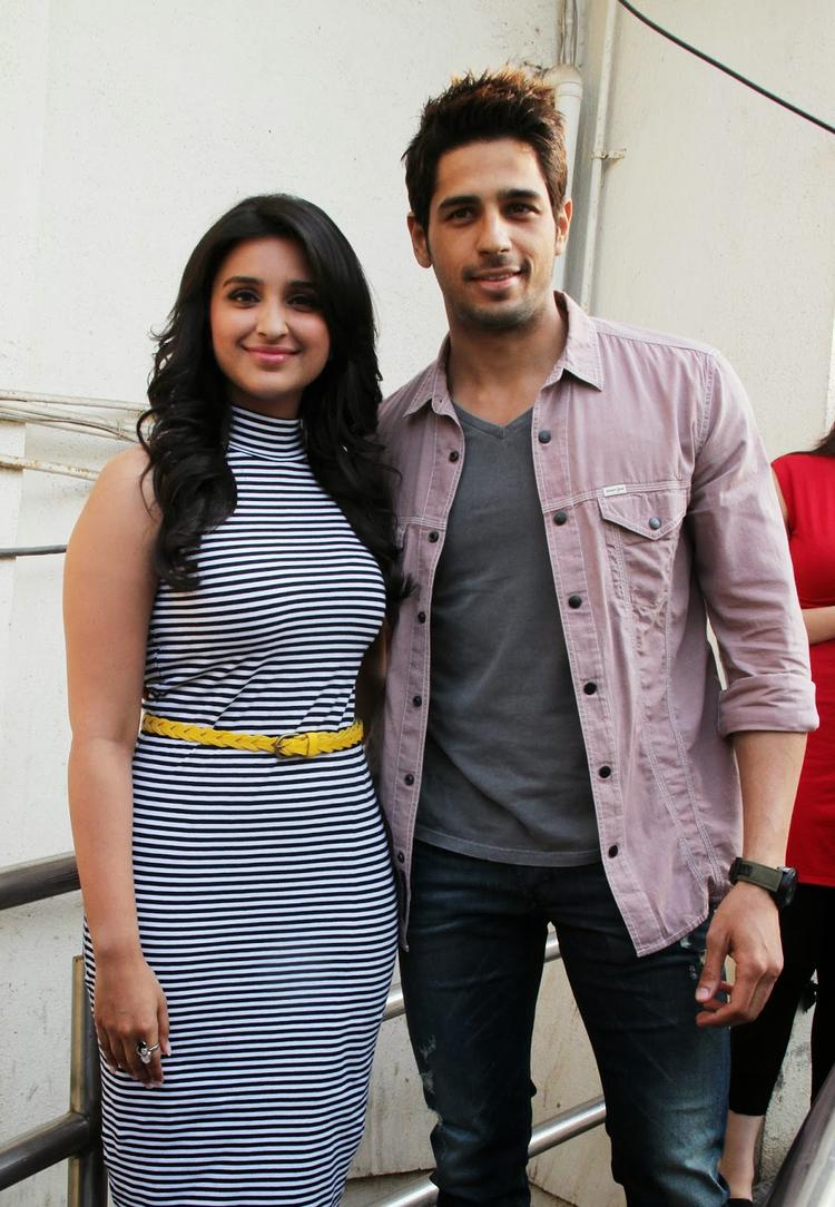 Sidharth And Parineeti Arrives At The First Look Launch Of Hasee Toh Phasee In Mumbai