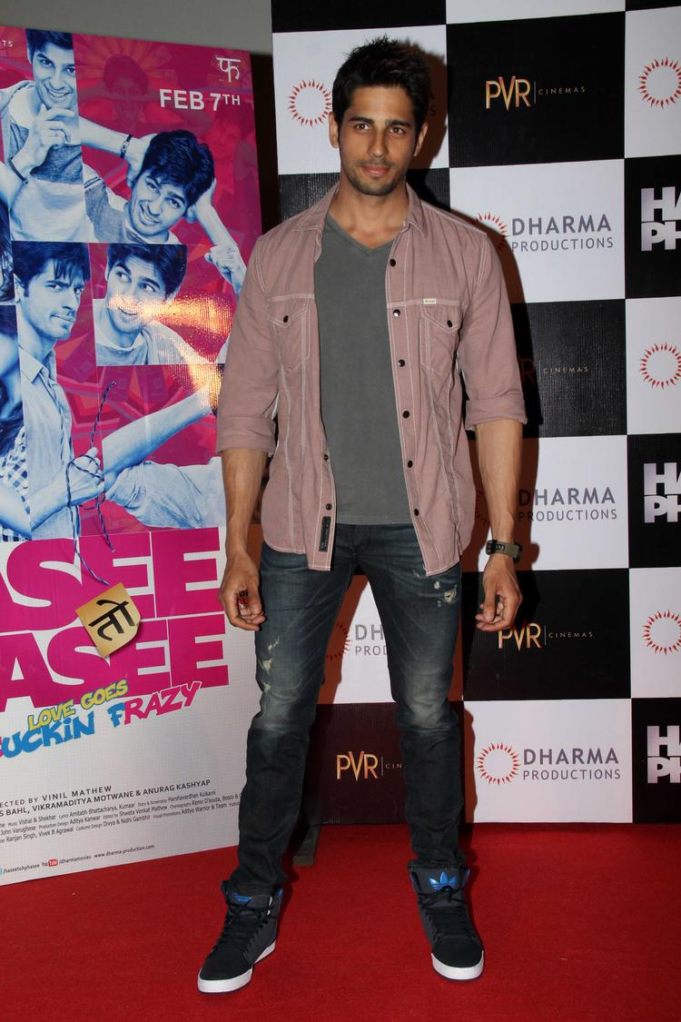 Style Icon Sidharth Malhotra at Hasee Toh Phasee First Look Launch In Mumbai