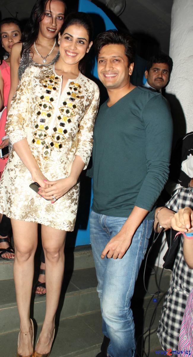 Genelia With Hubby Riteish At R Rajkumar Success Party