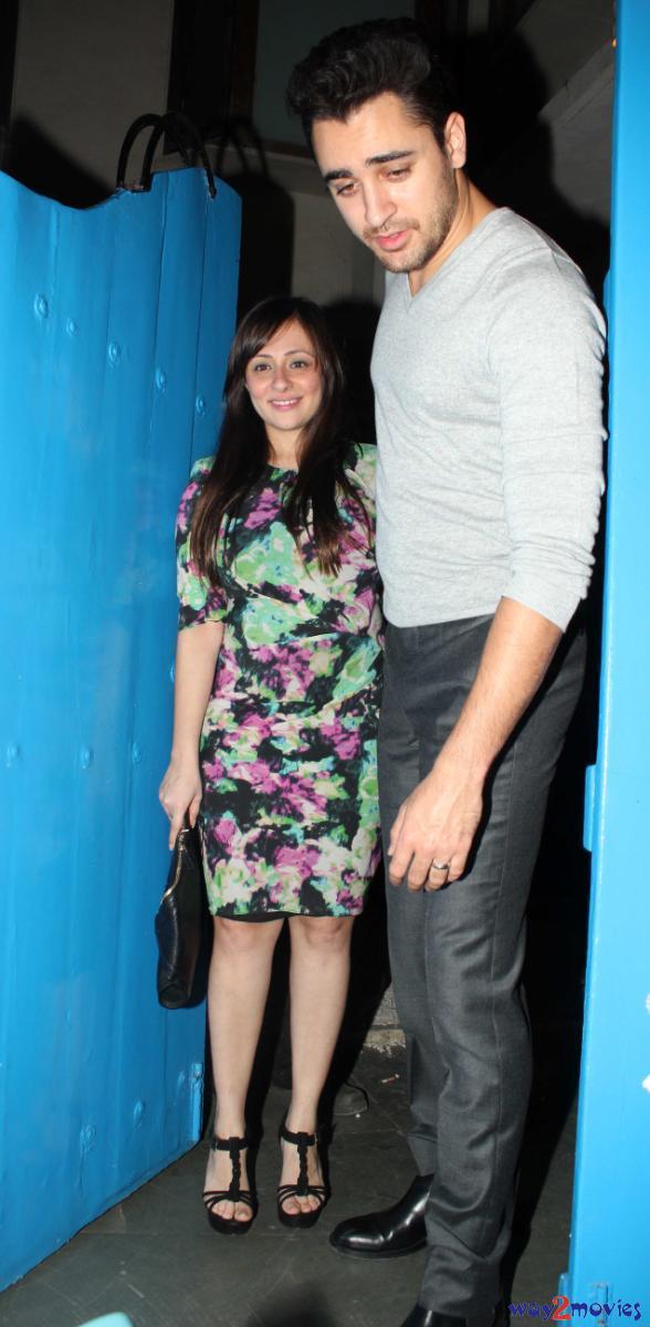 Imran And Avantika Snapped At 'R..Rajkumar' Success Party