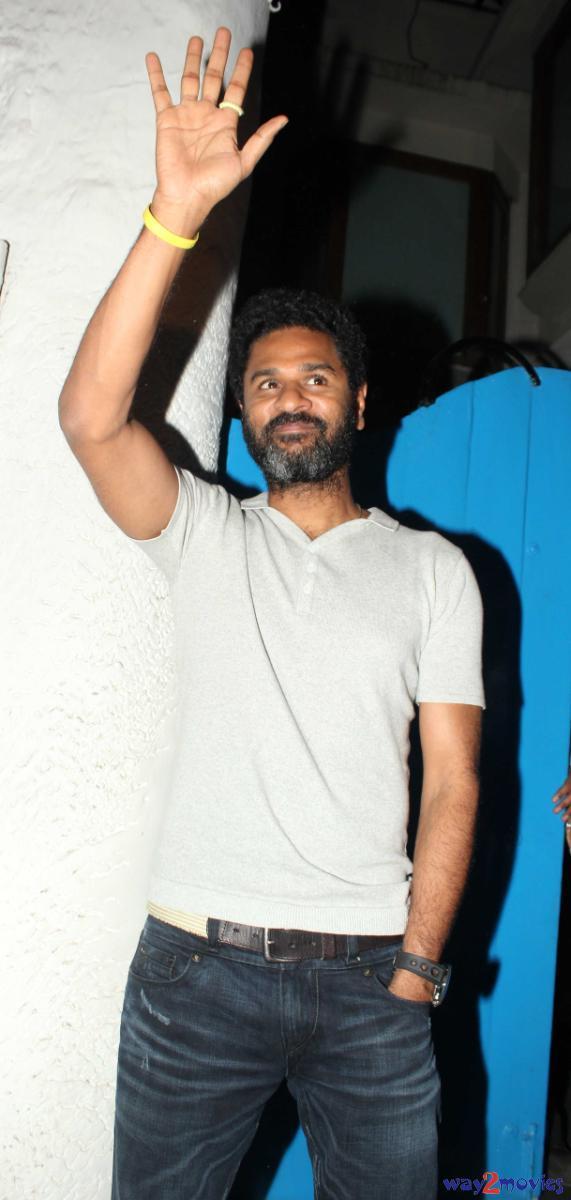 Prabhu Deva Say Hello His Fans At R Rajkumar Success Party