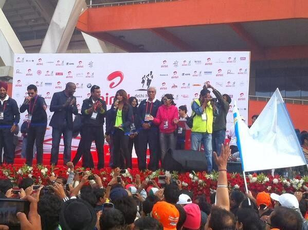 Bipasha Basu Encourage Audience To Run At Airtel Delhi Half Marathon 2013