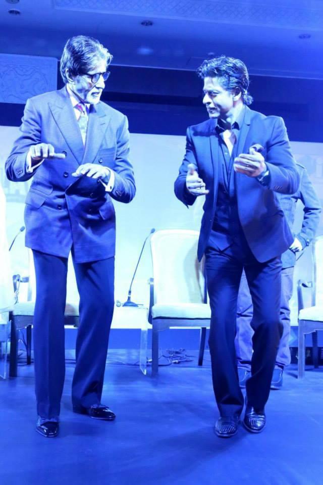 Shah Rukh Khan And Amitabh Bachchan Shake A Leg Together At NDTV Solutions