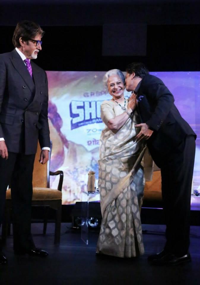 Shahrukh Khan Romances With Waheeda Rehman During NDTV Solutions