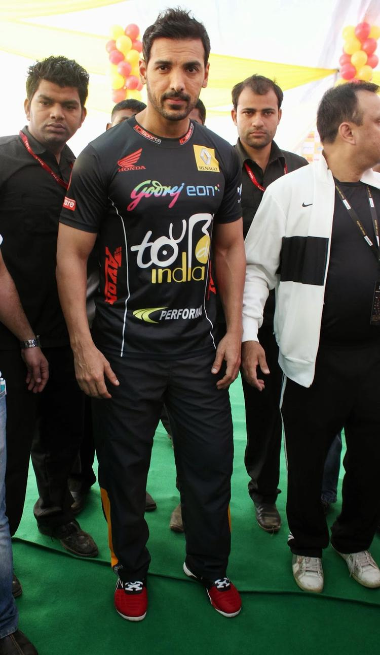 Actor John Abraham During A Cyclothon Organised By Tour De India Association In Mumbai