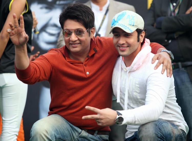 Adhyayan And Shekhar Pose Day 2 Event Of Godrej Eon Tour De India 2013 Cyclothon