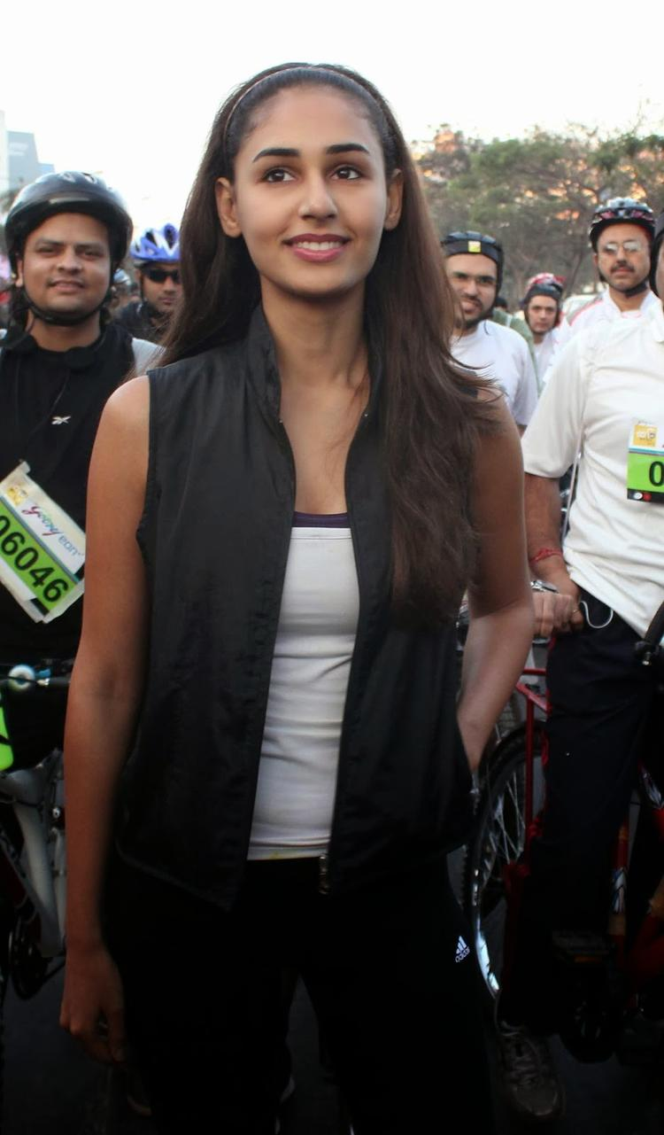 Model Hasleen Kaur During A Cyclothon Organised By Tour De India Association In Mumbai