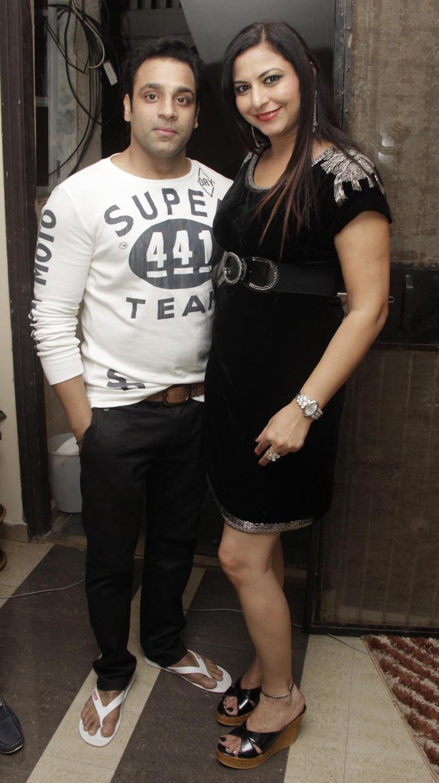 Abhishek Avasthi And Gurpreet Kaur Chadha Posed For Camera During The Birthday Bash Of Gurpreet Kaur Chadha