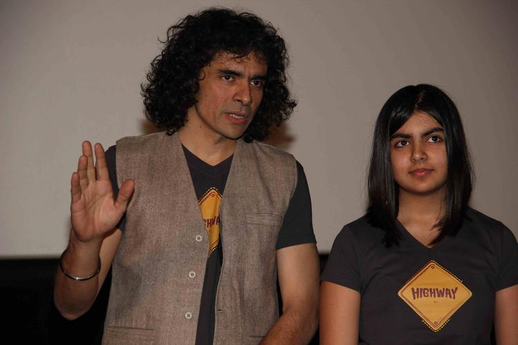 Imtiaz Ali Discussion Still During The First Look Launch Of Highway Movie