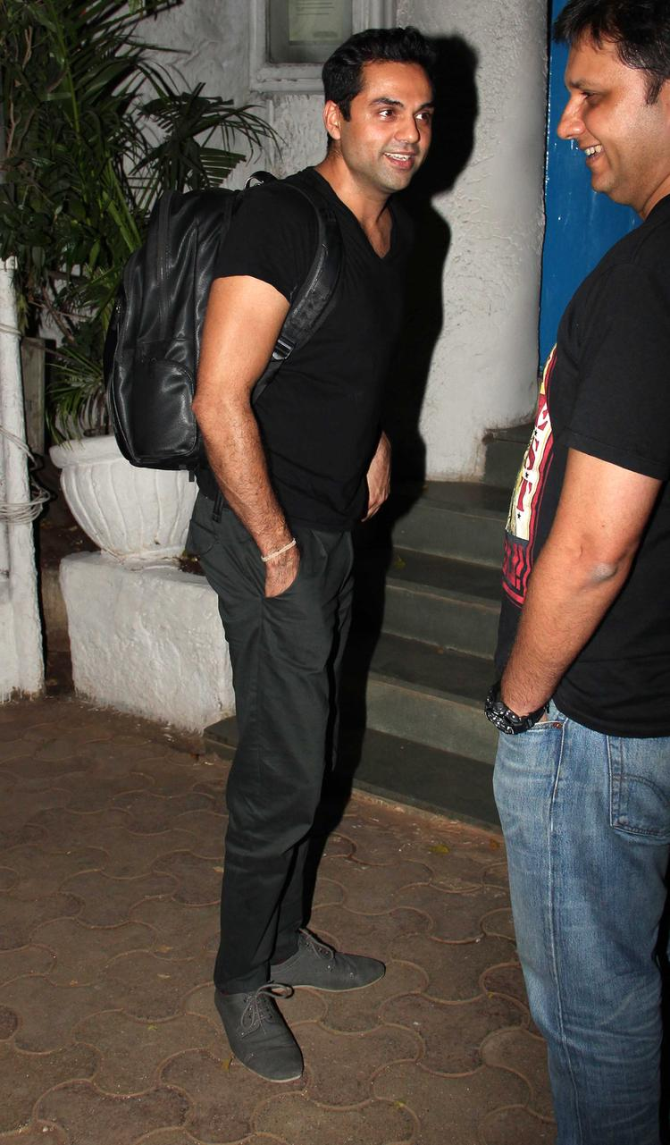 Abhay Deol Dappers Look Black Tee At Olive Bar