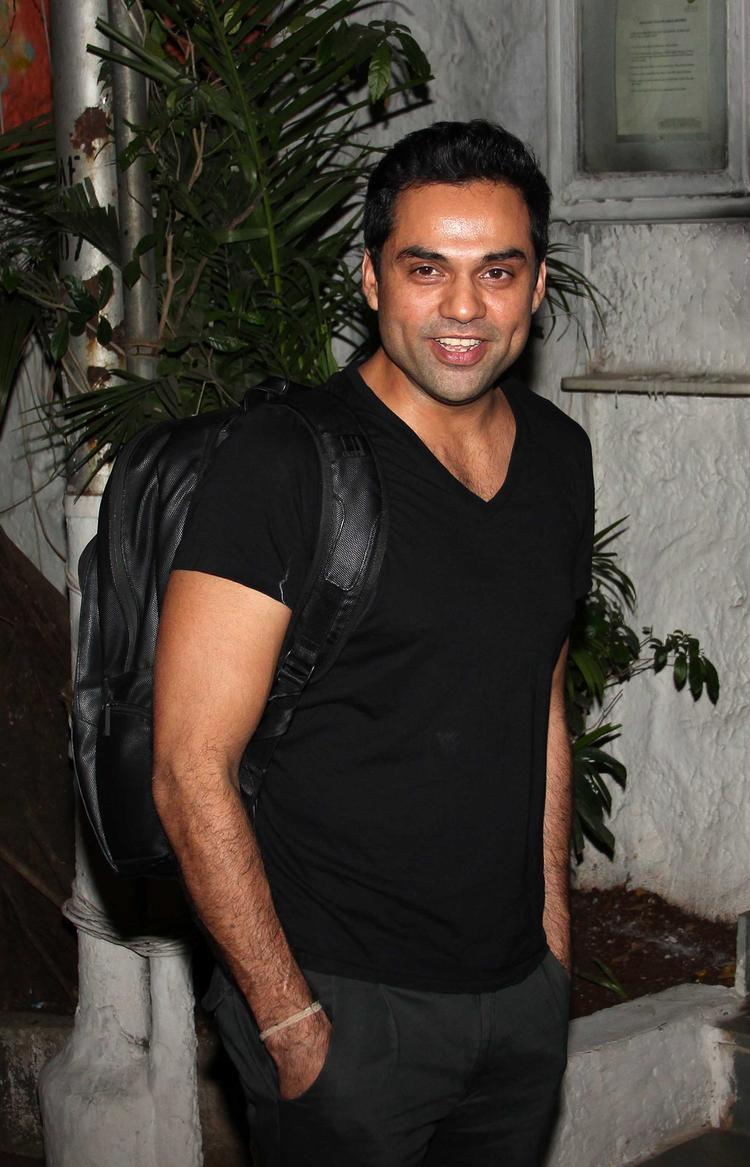 Abhay Deol Dimple Show Smiling Look At Olive Bar, Mumbai