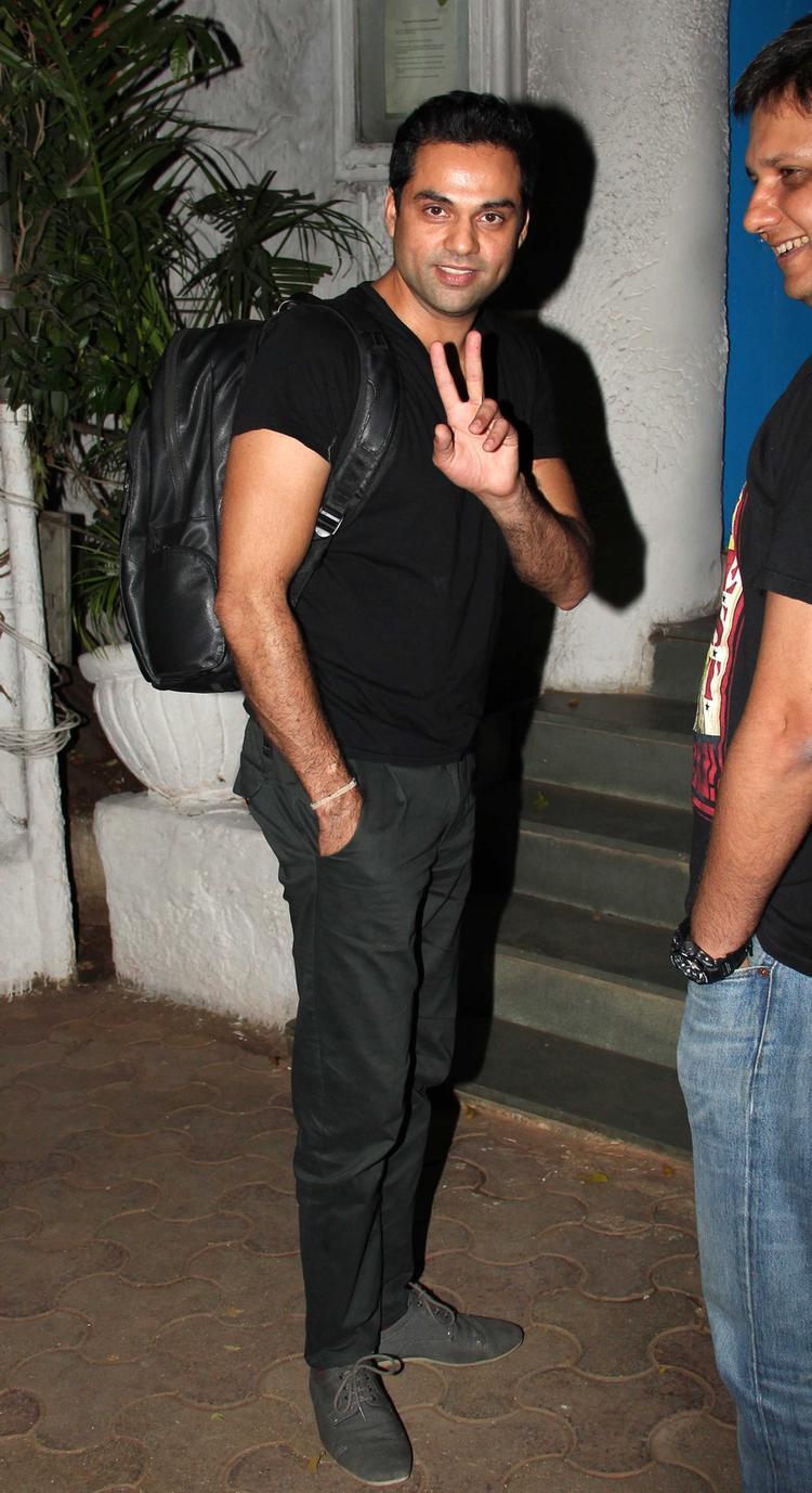 Abhay Deol Strikes A Pose At Olive Bar, Mumbai