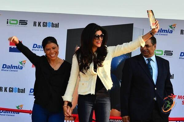 Mary Kom's Autobiography, Unbreakable Launched By Former Ms. Universe Sushmita Sen