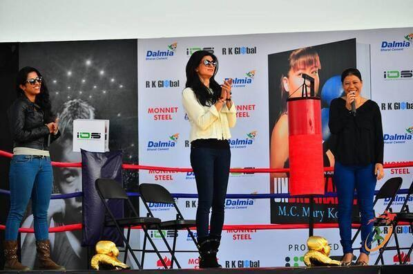 Sushmita Spotted To Launch Mary Kom's Autobiography Unbreakable