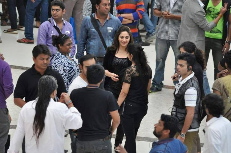 Bollywood Graceful Actress Madhuri Spotted Shooting For Oral B Ad