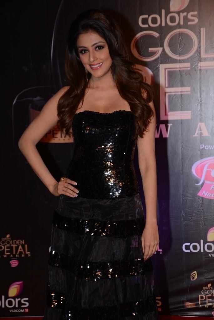 Aarti Chhabria In Black Dress Ravishing Look At Colors TV 3rd Golden Petal Awards 2013