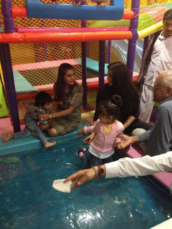 Aaradhya And Aishwarya Day Out With Family Friends