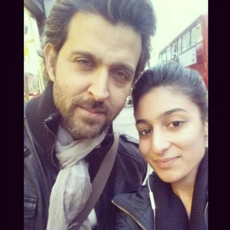 Hrithik Roshan Cool Pic With A Fan At London