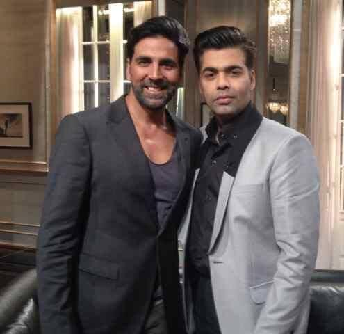 Akshay And Karan Sweet Pose Photo Shoot On Koffee With Karan Show