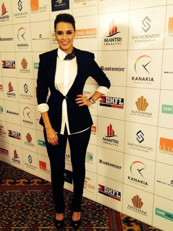 Gorgeous Neha Dhupia At The Times Property Expo Inauguration