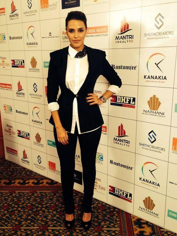 Neha Dhupia In DRVV At The Times Property Expo Inauguration