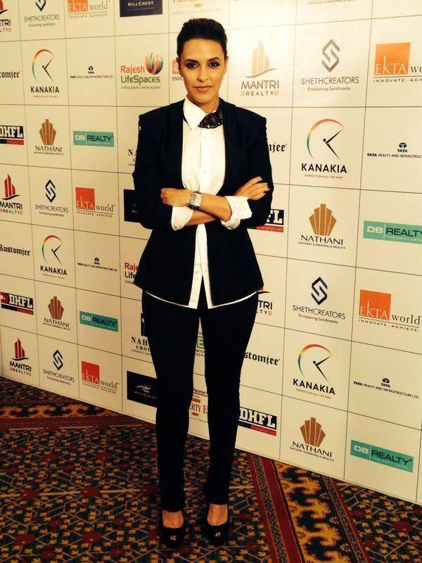 Neha Dhupia Snapped At The Times Property Expo Inauguration